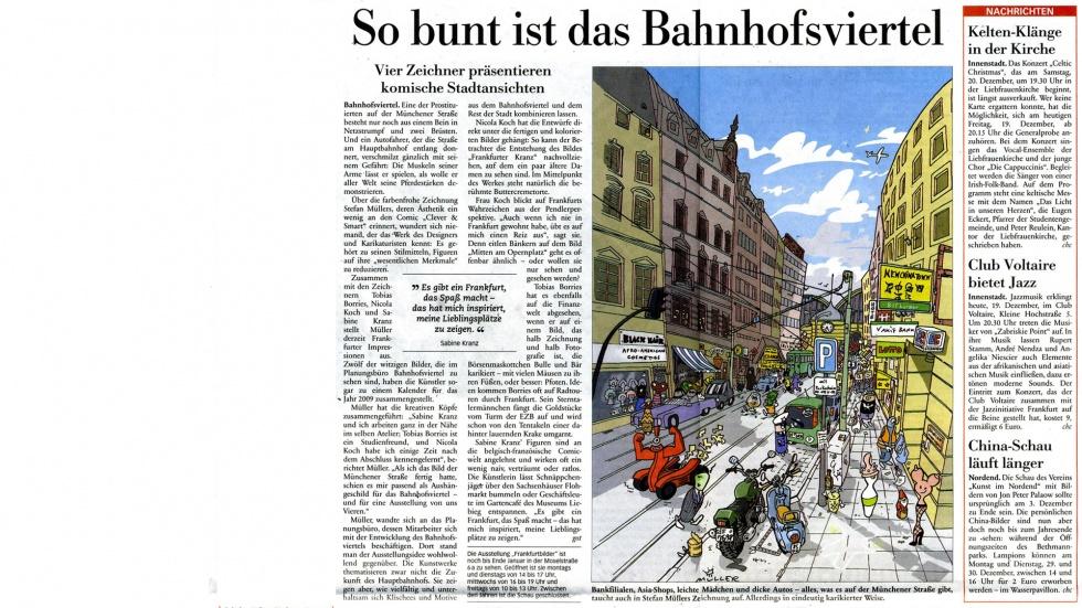 Artikel in der Frankfurter Neuen Presse